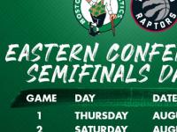 今日凯尔特人队官方宣布了东部半决赛与猛龙队的对阵时间表