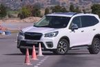 km77对2019年的斯巴鲁森林人混合动力车进行了驼鹿测试