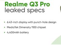 TENAA上出现了Realme Q3 Pro规格和设计