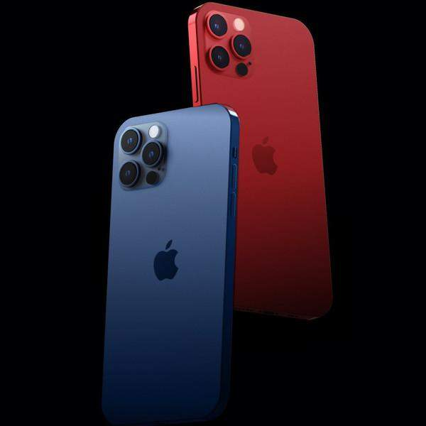 iPhone12Pro红蓝配色渲染图曝光,颜值逆天