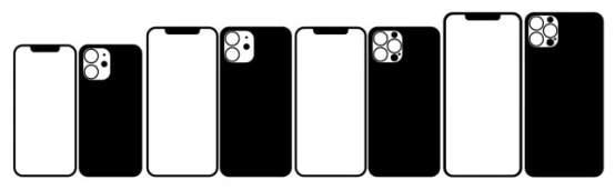 iPhone12系列9月8日发布,保护膜镜头膜外观全曝光