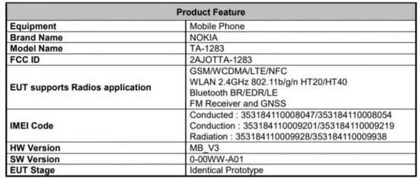 诺基亚3.4即将上市,已通过FCC认证!