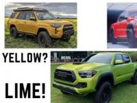 丰田为Tundra使用三种全新独家TRD Pro颜色的潜力