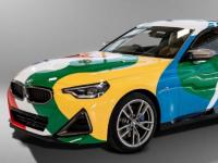 一辆令人眼花缭乱的全新 BMW 2 系艺术车